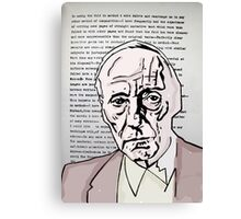 William S Burroughs. Canvas Print