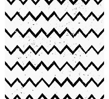 Hand Drawn Chevron Print Photographic Print