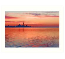 Brilliant Colorful Morning - Toronto Skyline Impressions Art Print