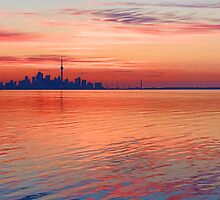 Brilliant Colorful Morning - Toronto Skyline Impressions by Georgia Mizuleva