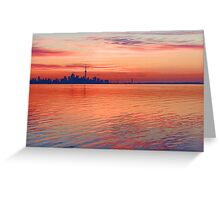 Brilliant Colorful Morning - Toronto Skyline Impressions Greeting Card