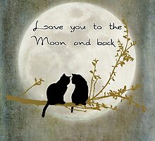 Love you to the moon and back (rectangle) by Linda Lees
