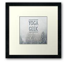 Yoga Geek Framed Print