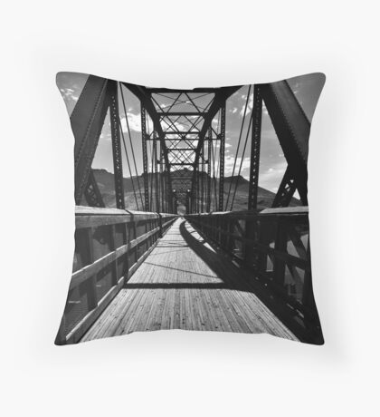 Vanish with me into Shades of Gray Throw Pillow