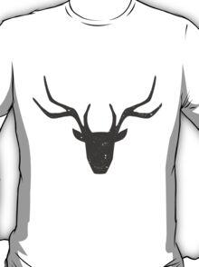 Deer Head Silhouette Design T-Shirt