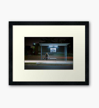 Winter, Time, Waiting. Framed Print