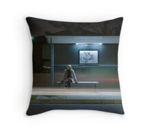 Winter, Time, Waiting. Throw Pillow