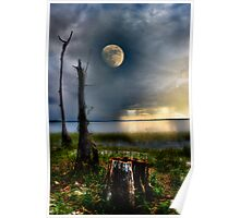 Moon over water Poster