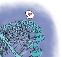 Love on the Ferris Wheel by wellsi