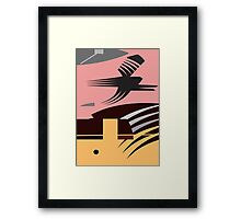 Rush Hour - Calm in the Cityscape Design by Jenny Meehan Framed Print
