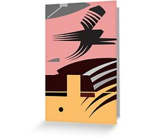 Rush Hour - Calm in the Cityscape Design by Jenny Meehan Greeting Card