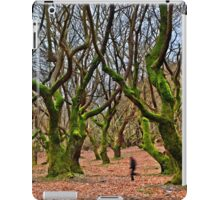 Ghost running in the haunted forest iPad Case/Skin