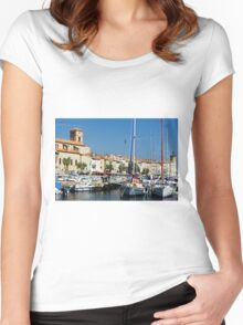 View Across La Ciotat Bay, Provence, France Women's Fitted Scoop T-Shirt