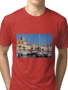 View Across La Ciotat Bay, Provence, France Tri-blend T-Shirt
