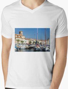 View Across La Ciotat Bay, Provence, France Mens V-Neck T-Shirt