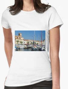 View Across La Ciotat Bay, Provence, France Womens Fitted T-Shirt