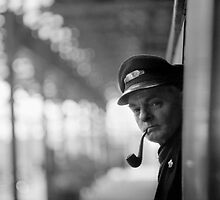Train Guard And Tobacco-Pipe by Colin S Pearson