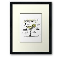 Cocktail - Margarita Recipe Framed Print