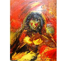 Red Light Lady Photographic Print