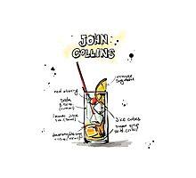 Cocktail - John Collins Recipe Photographic Print