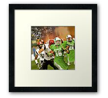 In 2038 The Pakistani Markhors Enter the NFL With Greatness Framed Print