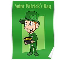 Saint Patrick's Day cartoon Poster
