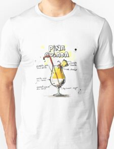 Cocktail - Pina Colada Recipe T-Shirt