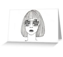 Sadness Greeting Card