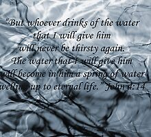 John 4 verse 14 Water Branches Bible Verse Poster by jenny meehan