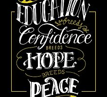 Education Breeds Peace - Confucius Quote by pietowel