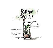 Cocktail - Mint Julep Recipe Photographic Print