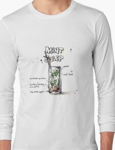 Cocktail - Mint Julep Recipe Long Sleeve T-Shirt
