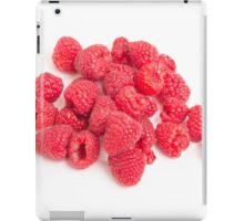 Red Raspberries on White iPad Case/Skin
