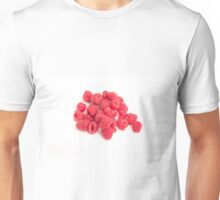 Red Raspberries on White Unisex T-Shirt