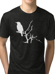 Little Birdy - White Tri-blend T-Shirt