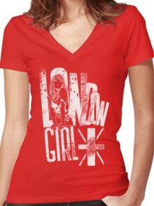 London Girl Women's Fitted V-Neck T-Shirt