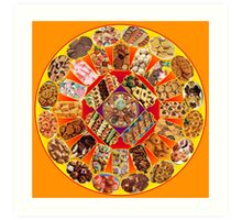 Fabulous Fifties Cookie Mandala Art Print