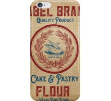 Vintage Burlap Like Flour Sack iPhone Case/Skin