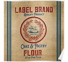 Vintage Burlap Like Flour Sack Poster