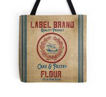 Vintage Burlap Like Flour Sack Tote Bag