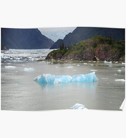 Blue ice in Tracy Arm Poster
