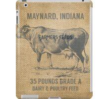 Burlap Vintage Like Dairy Feed Sack iPad Case/Skin
