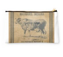 Burlap Vintage Like Dairy Feed Sack Studio Pouch