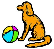Dog And Ball by kwg2200