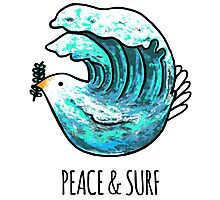 Peace & Surf Photographic Print