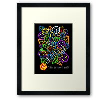 D&D (Dungeons and Dragons) - This is how I roll! Framed Print