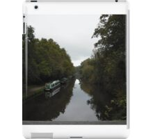 Canal boats on a cloudy day iPad Case/Skin