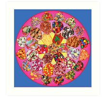 Fabulous Fifties Candy Mandala Art Print