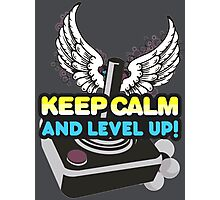 Keep Calm and Level Up! Photographic Print