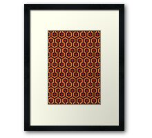 The Shining Carpet Texture Framed Print